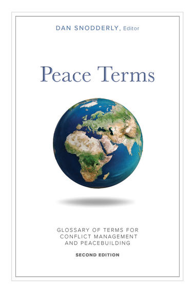 cover of the peace terms glossary book