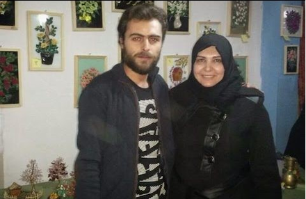 Ghalia Rahal with her son, Khaled, in 2015. (Hiba Rahal)