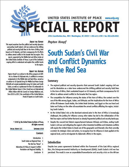 South Sudan's Civil War and Conflict Dynamics in the Red Sea