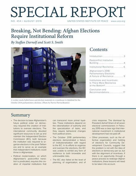 Breaking, Not Bending: Afghan Elections Require