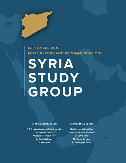 Syria Study Group Final Report cover