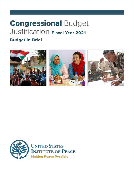FY 2021 Budget in Brief cover