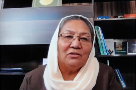 Habiba Sarabi, a former governor and cabinet minister, is one of four women on the 21-member Afghan government negotiating team.