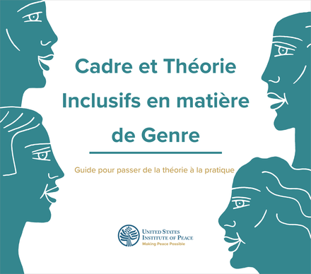Cover of Gender Inclusive Framework and Theory (French) featuring illustrated profiles.