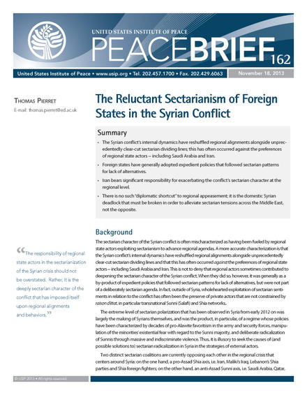 The Reluctant Sectarianism of Foreign States in the Syrian Conflict cover