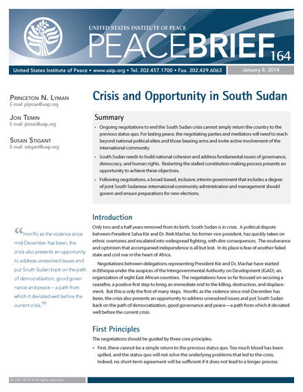 peace brief 164 cover