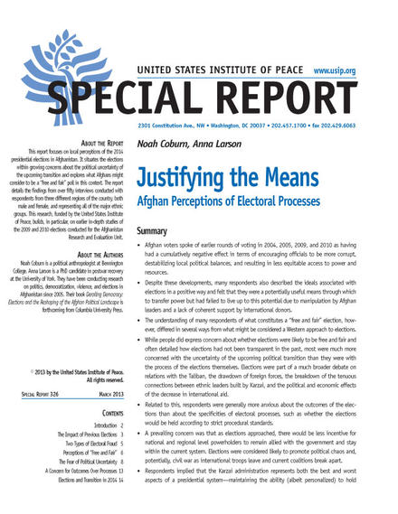 Special Report: Justifying the Means