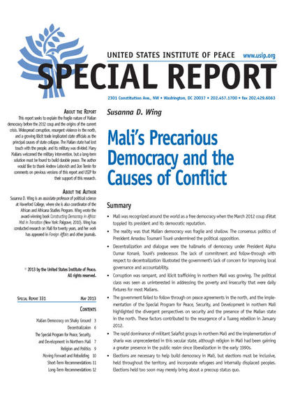 Special Report: Mali's Precarious Democracy and the Causes of Conflict