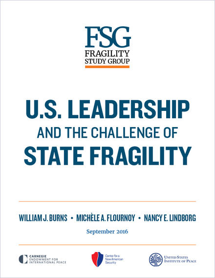 US Leadership and the Challenge of State Fragility cover