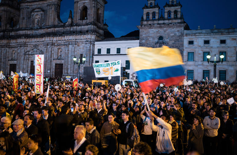 Standing by Colombia for Peace, as in War