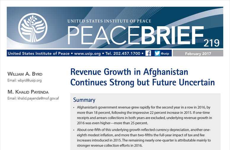 Revenue Growth in Afghanistan Continues Strong but Future Uncertain