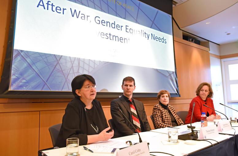 After War, Gender Equality Needs Investment Too