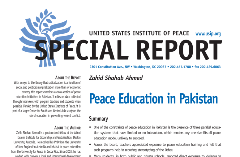 Peace Education in Pakistan