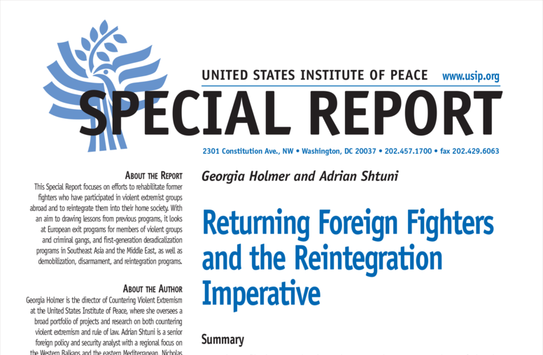 Returning Foreign Fighters and the Reintegration Imperative