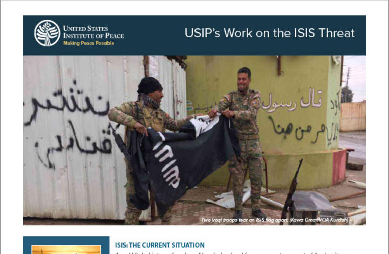 USIP's Work on the ISIS Threat