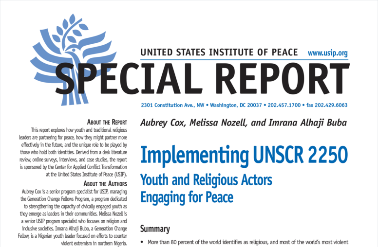 Implementing UNSCR 2250