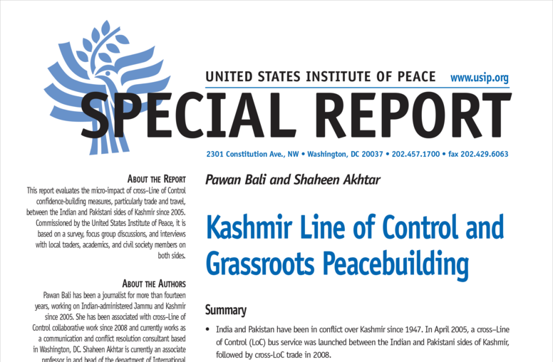 Kashmir Line of Control and Grassroots Peacebuilding