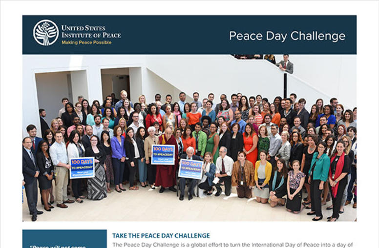 What is the Peace Day Challenge?
