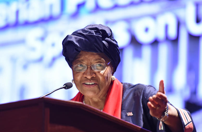 Liberian President Sirleaf Speaks on U.S.'s Global Role