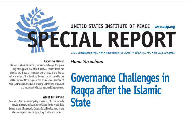 Governance Challenges in Raqqa after the Islamic State