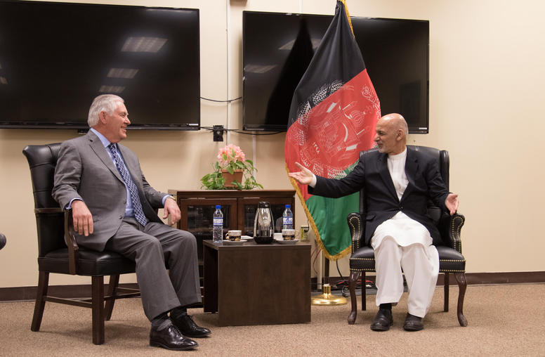 Tillerson Seeks to Stem Taliban Attacks with Kabul, Islamabad Visits