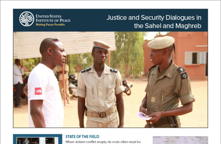 Justice and Security Dialogues in  the Sahel and Maghreb