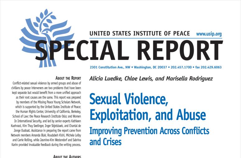 Sexual Violence, Exploitation, and Abuse