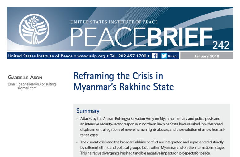 Reframing the Crisis in Myanmar's Rakhine State