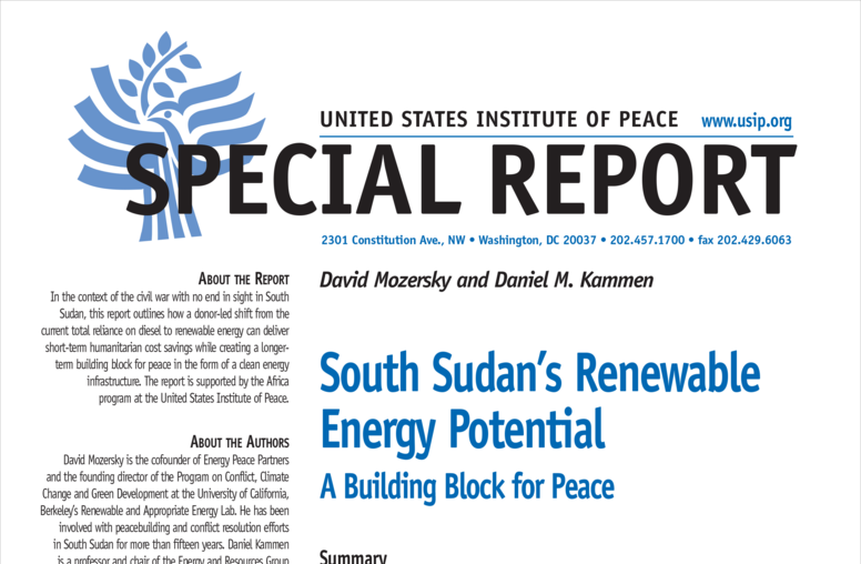South Sudan's Renewable Energy Potential