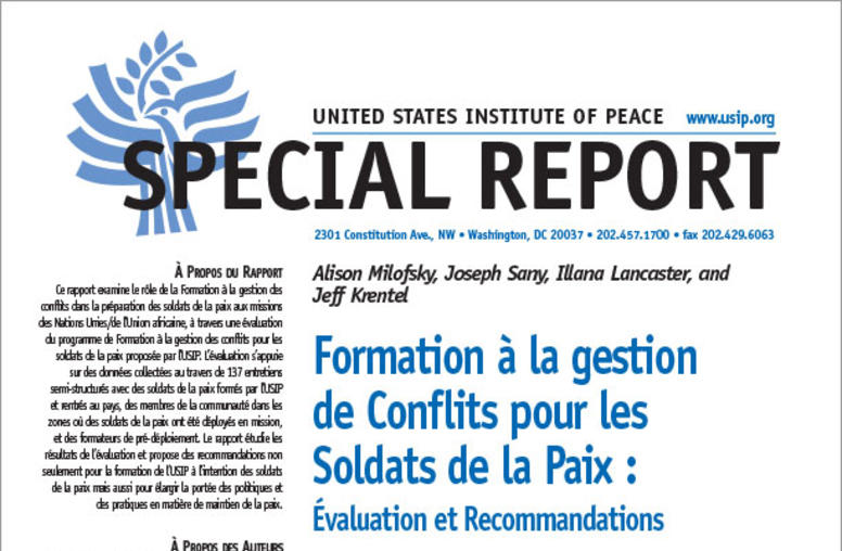 Conflict Management Training for Peacekeepers (French)