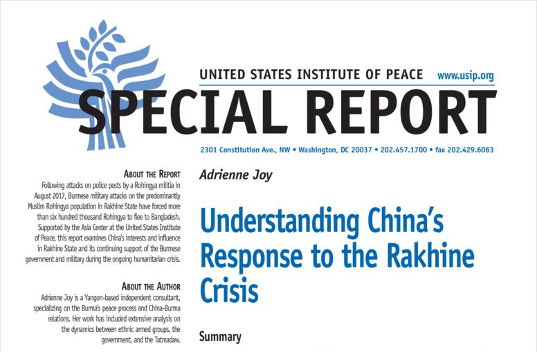 Understanding China's Response to the Rakhine Crisis