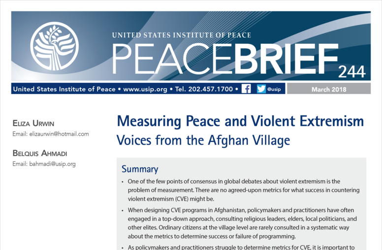 Measuring Peace and Violent Extremism