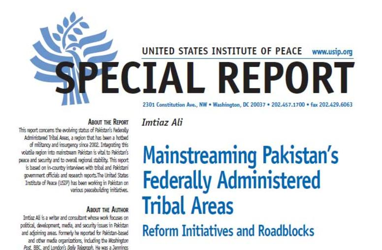 Mainstreaming Pakistan's Federally Administered Tribal Areas