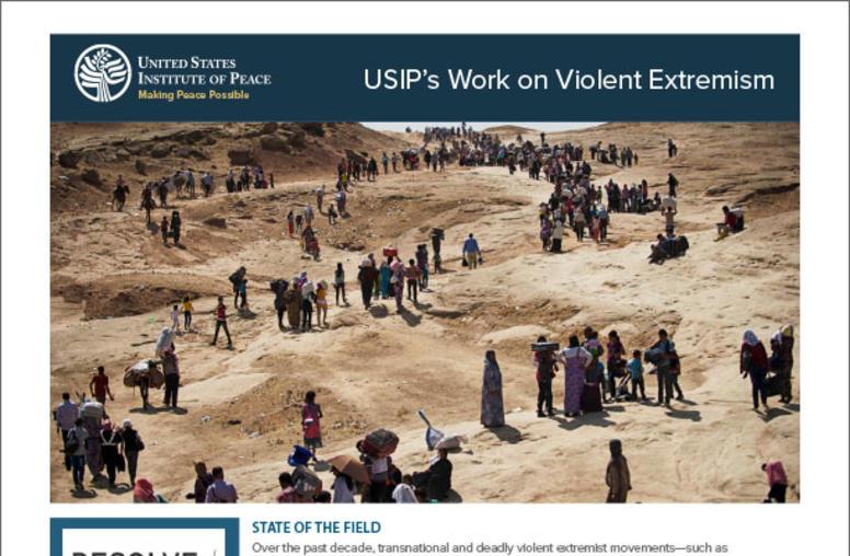 USIP's Work on Violent Extremism