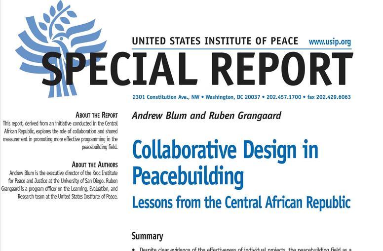 Collaborative Design in Peacebuilding