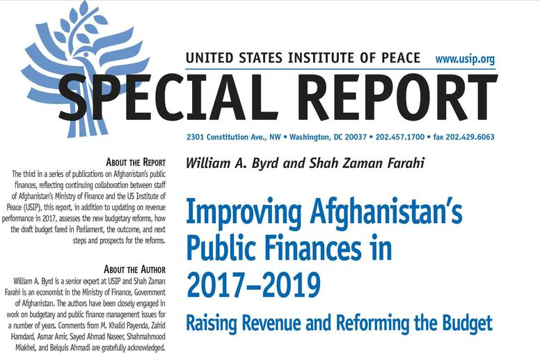 Improving Afghanistan's Public Finances in 2017–2019: Raising Revenue and Reforming the Budget