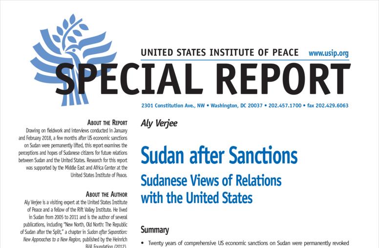 Sudan after Sanctions