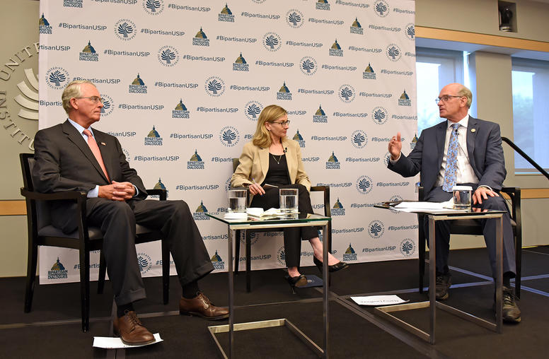 "Representatives Francis Rooney (R-FL) and Bill Keating (D-MA) discussed ""Russia: 21st Century Disruptor in Europe"" at USIP's 4th Bipartisan Congressional Dialogue"