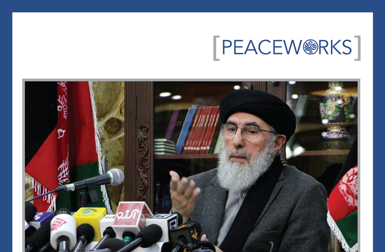 Hezb-e Islami, Peace, and Integration into the Afghan Security Forces