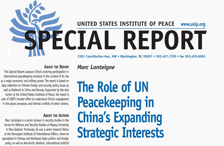 The Role of U.N. Peacekeeping in China's Expanding Strategic Interests