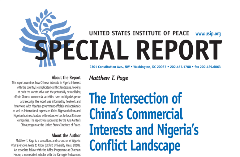 The Intersection of China's Commercial Interests and Nigeria's Conflict Landscape