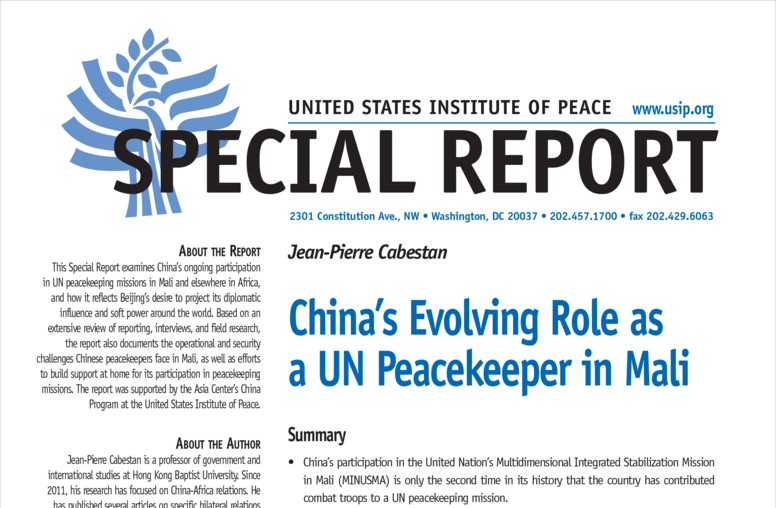 China's Evolving Role as a U.N. Peacekeeper in Mali