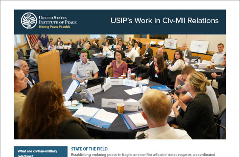 USIP's Work in Civ-Mil Relations