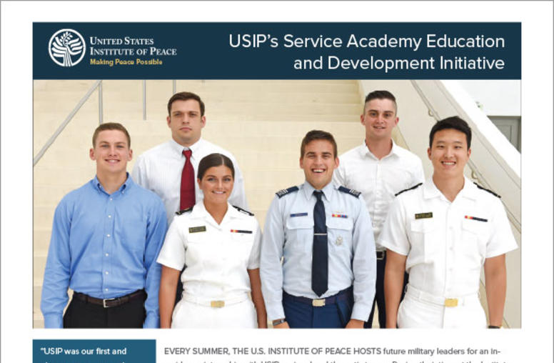 USIP's Service Academy Education and Development Initiative