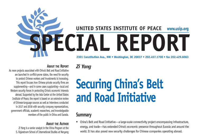 Securing China's Belt and Road Initiative