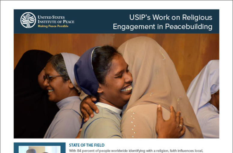 Religious Engagement in Peacebuilding