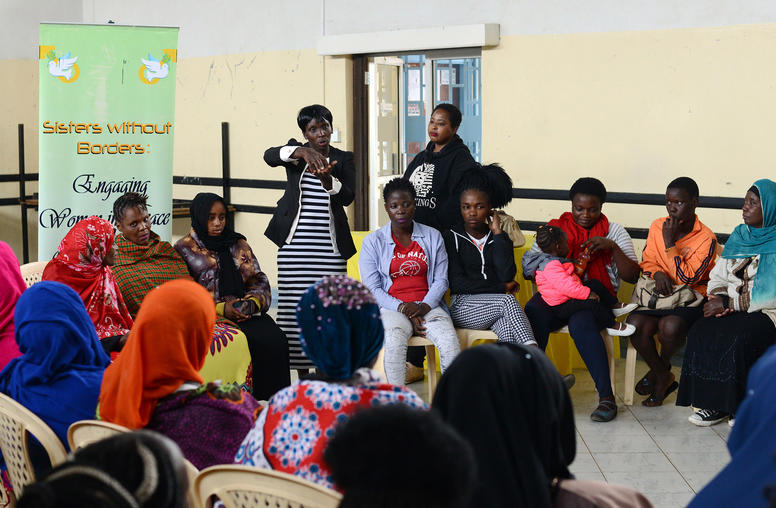 Sisters Without Borders gathers women in Eastleigh, a section of Nairobi, to discuss ways to prevent violence and extremism. Eastleigh and an adjacent neighborhood have suffered attacks and recruitment by al-Shabab militants.