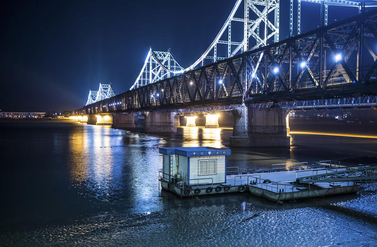 The Sino-Korean Friendship Bridge that connects North Korea to China, in Dandong, China. (Lam Yik Fei/The New York Times)