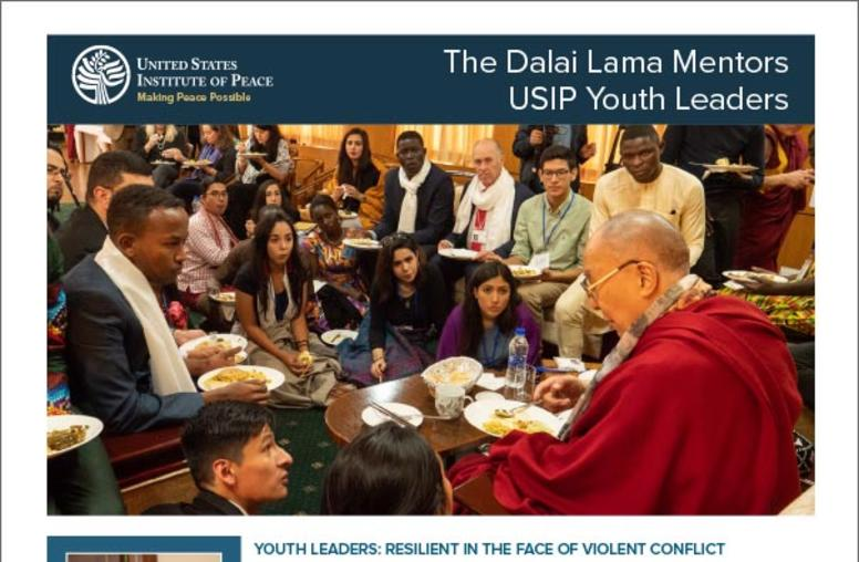 The Dalai Lama Mentors USIP Youth Leaders