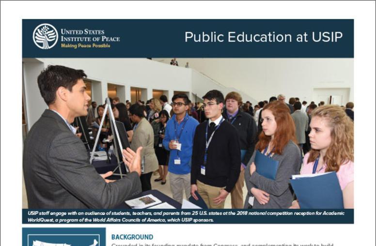 Public Education at USIP